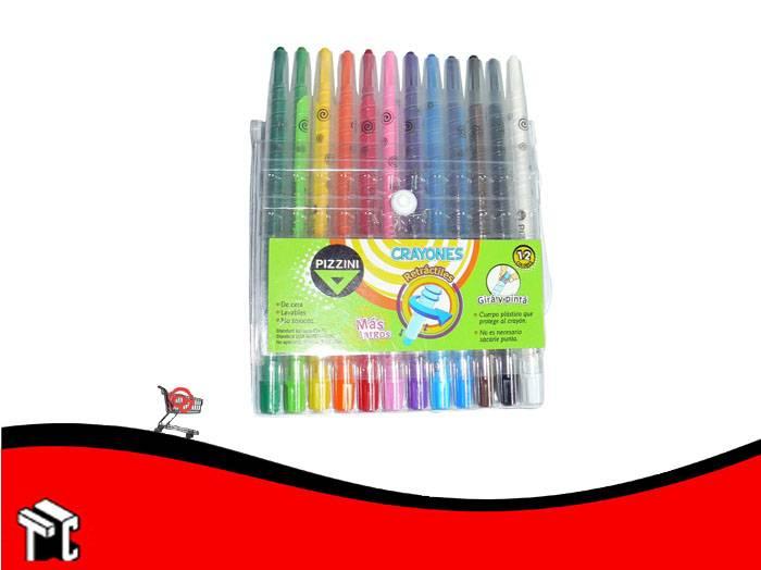 Crayón Retráctil Pizzini X 12 + Largo