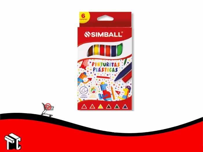 Crayón Plastico Simball X 6