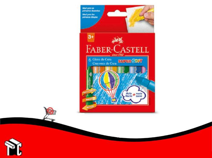 Crayón A La Cera Faber Castell Súper Soft Retráctil X6