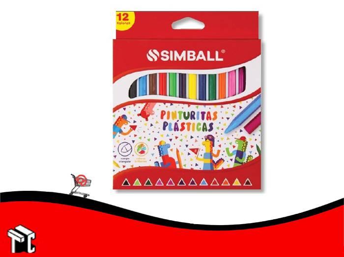 Crayon Plastico Simball X 12