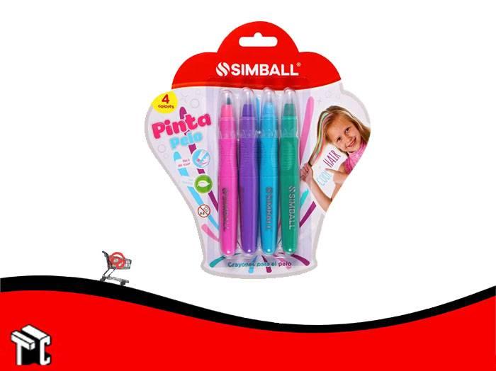 Crayon Pinta Pelo Simball X4 Colores