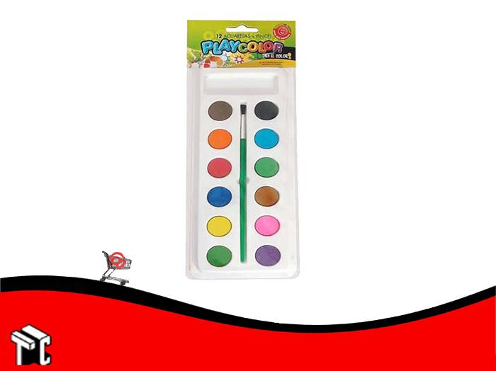 Acuarela Escolar Pedrito Playcolor X 12 Colores