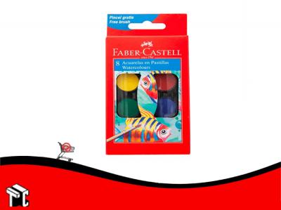 Acuarela Escolar Faber Castell X 8