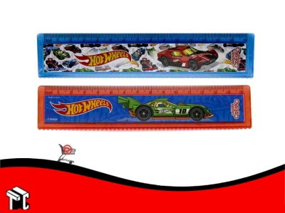 Regla 15 Cm Hot Wheels