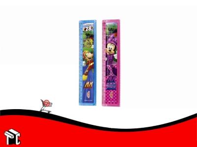 Regla 15 Cm Minnie & Mickey Aventuras Sobre Ruedas