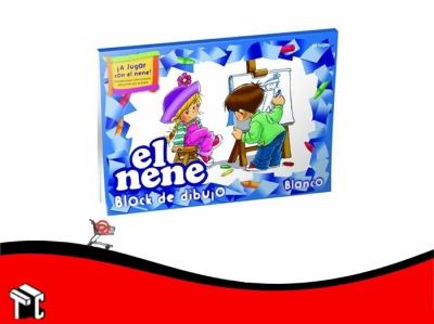 Block De Dibujo Nº5 Blanco El Nene 24 Hojas