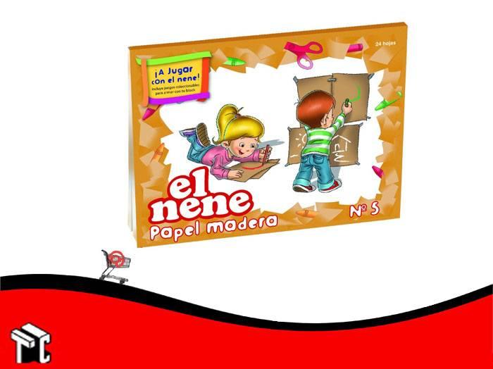 Block De Dibujo Nº5 Kraft El Nene 24 Hojas