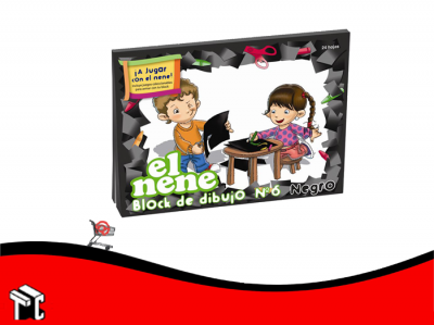 Block De Dibujo N.6 Negro El Nene 24 Hojas