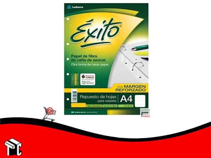 Repuesto A4 Exito Margen Reforzado 192 Hojas Rayadas