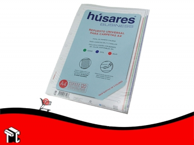 Repuesto A4 Husares Business Surt. 120 Hojas Cuadric.