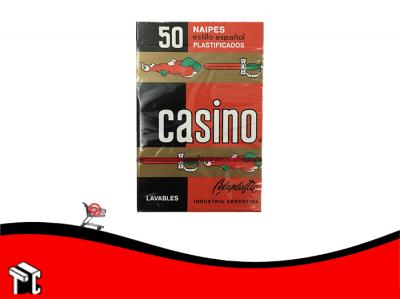 Naipes Casino Celuplastic  Españolas 50