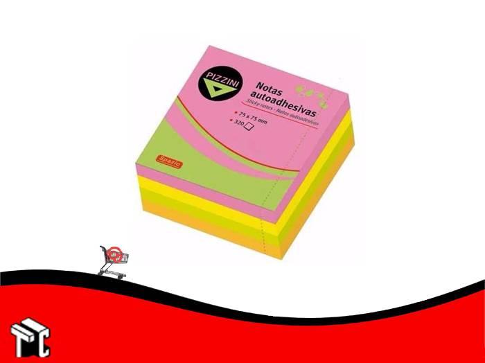 Taco Adhesivo 75x75 Pizzini 320 Hojas