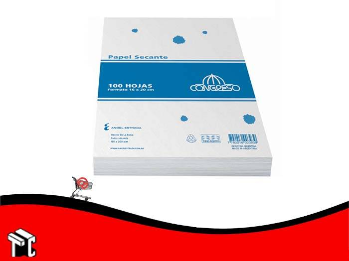 Taco Papel Secante Congreso 16x20 Cm X 100 Hojas