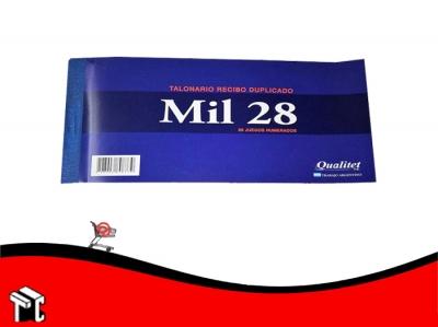 Talonario Recibo Autorizado Duplicado Mil28