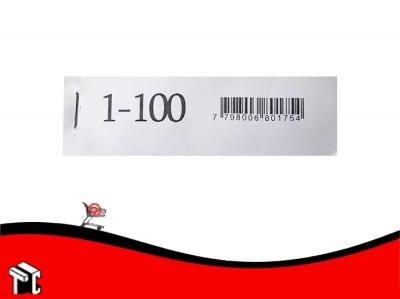 Talonario Guardarropa 1-100 Mil28