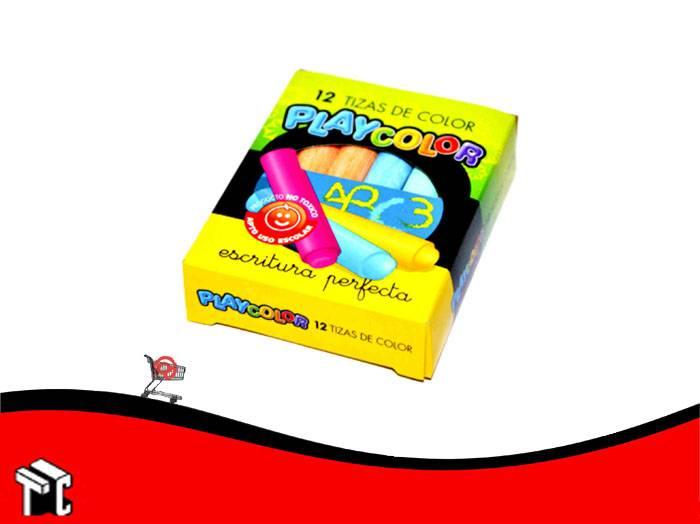 Tiza Color Playcolor Caja X 12 Unidades