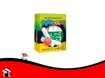 Tiza Blanca Playcolor Caja X 12 Unidades