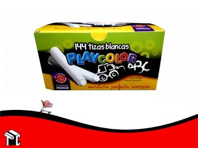 Tiza Blanca Playcolor Caja X 144 Unidades