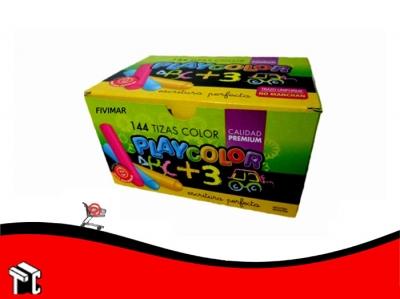 Tiza Color Playcolor Caja X 144 Unidades