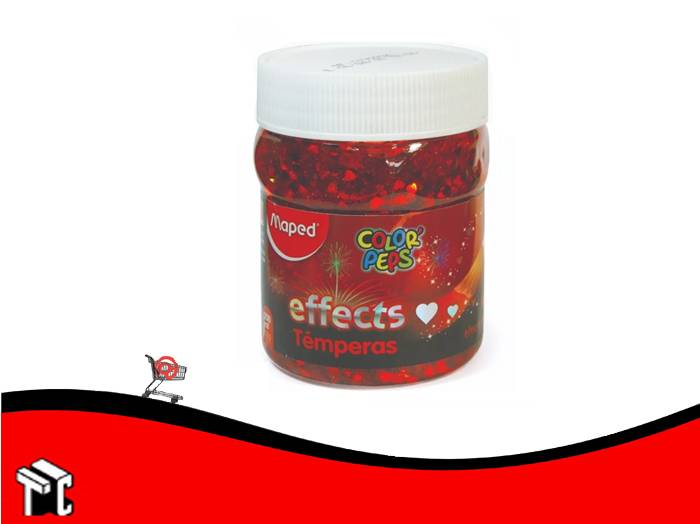 Tempera Maped X200ml Effect Corazones