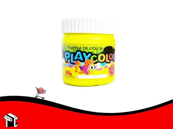 Tempera Playcolor Amarillo Limon X 300 Grs.