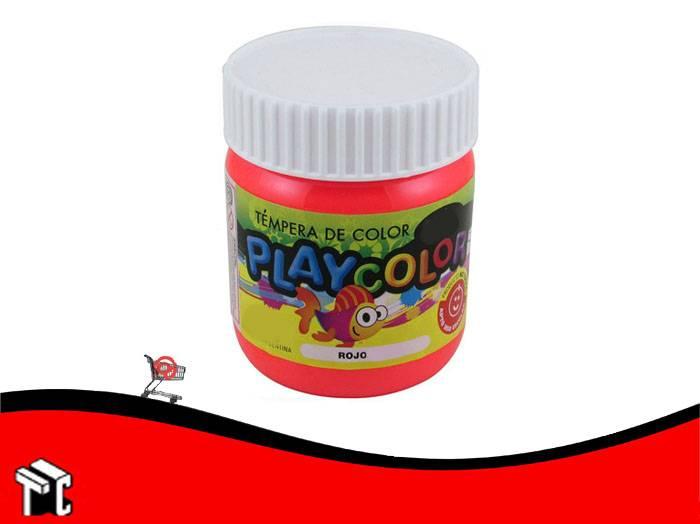 Tempera Playcolor Rojo Bermellon X 300 Grs.