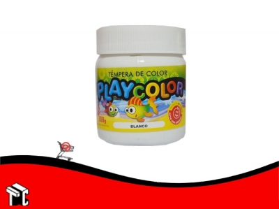 Tempera Playcolor Blanca X 300 Grs.