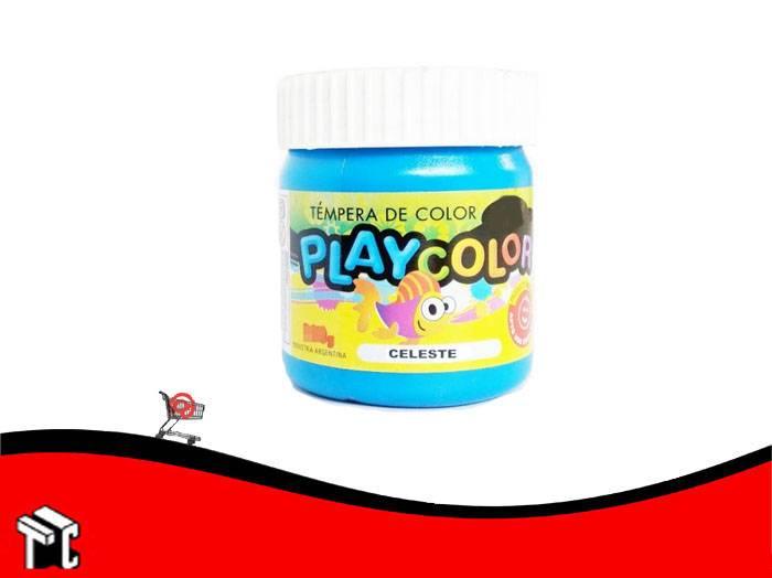 Tempera Playcolor Celeste X 300 Grs.