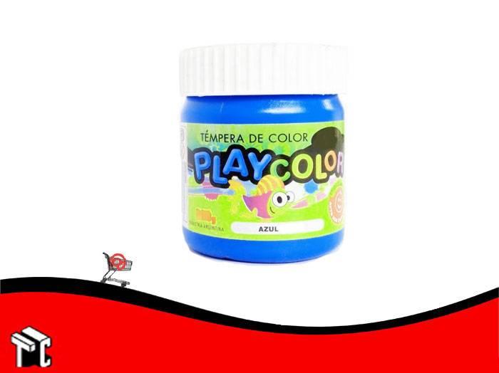 Tempera Playcolor Azul Medio X 300 Grs.