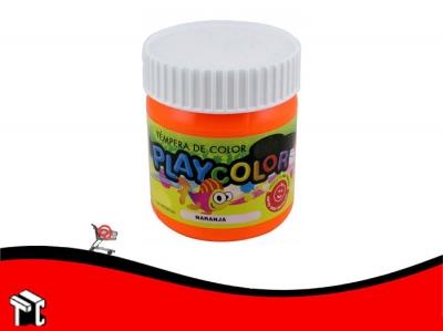 Tempera Playcolor Naranja X 300 Grs.