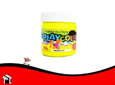 Tempera Playcolor Amarillo Medio X 300 Grs.