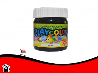 Tempera Playcolor Negro X 300 Grs.