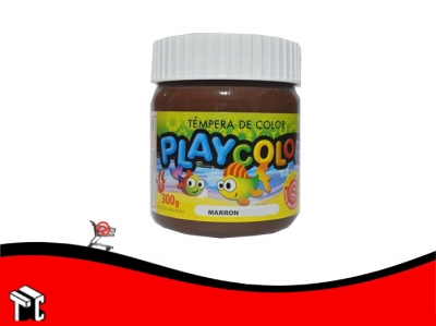 Tempera Playcolor Marron X 300 Grs.