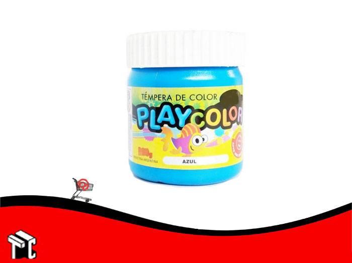 Tempera Playcolor Azul Ultramar X 300 Grs.