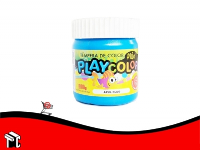 Tempera Playcolor Azul Fluo X 300 Grs.