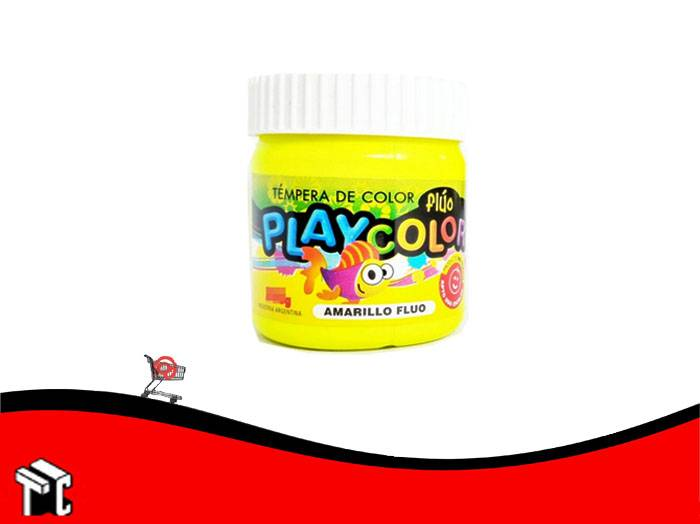 Tempera Playcolor Amarillo Fluo X 300 Grs.