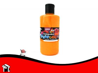 Tempera Playcolor Naranja Fluo X 250 Grs.