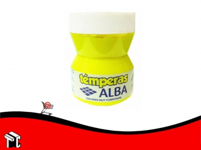 Tempera Alba 100 Ml Amarillo Fluo
