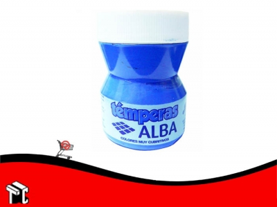 Tempera Alba 100 Ml Azul Fluo