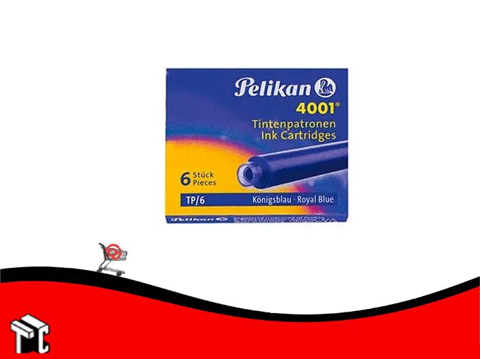 Cartucho Pelikan Azul 4001 X 6 Unidades