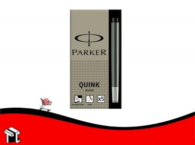 Cartucho Parker Negro X 5