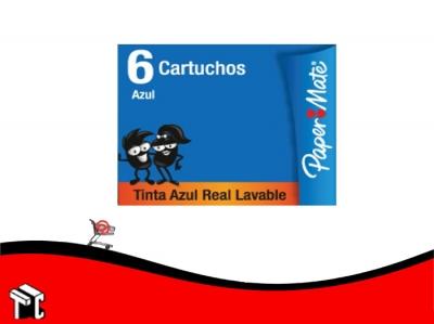 Cartucho Paper Mate Azul X 6 Ud
