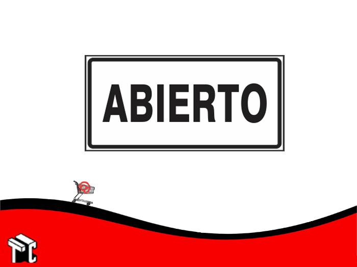 Cartel Adhesivo 6x16 Abierto