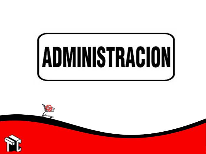 Cartel Adhesivo 6x16 Administracion