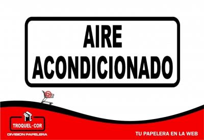 Cartel Adhesivo Aire Acondicionado 12 X 17 Cm