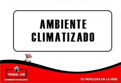 Cartel Adhesivo Ambiente Climatizado 12 X 17 Cm