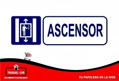 Cartel Adhesivo Ascensor 12 X 17 Cm