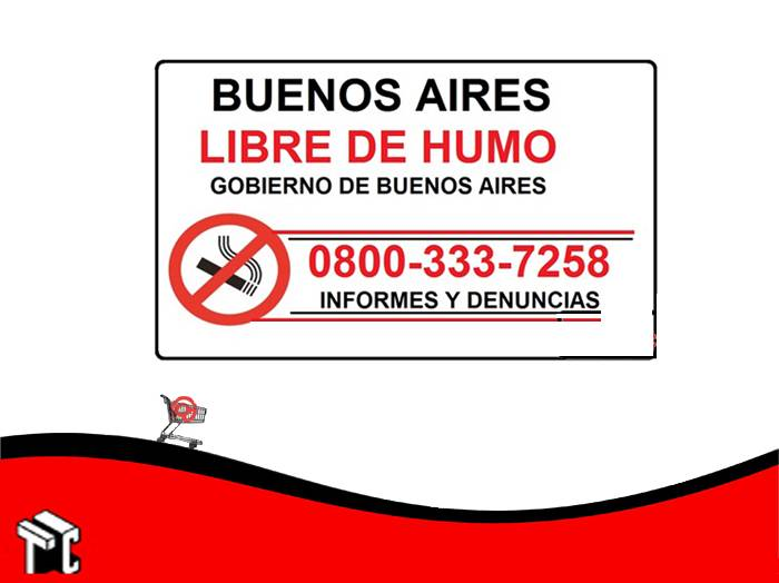 Cartel Adhesivo 21x23 Bs As Libre De Humo