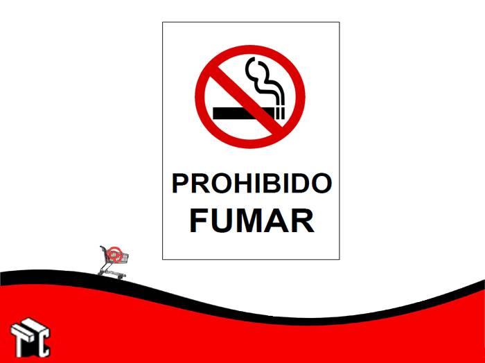 Cartel Adhesivo 21x23 Prohibido Fumar