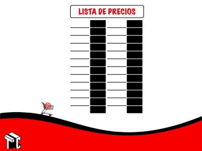 Cartel Alto Impacto 75x50 Lista De Precios